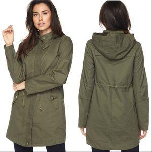 Solid Oversize Hooded Anorak Jacket